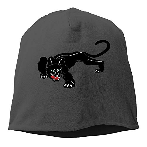 Black Panther Leopard Warm Stretchy Daily Beanie Hat Skull Cap Outdoor Winter