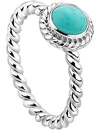 KUZZOI Dezember Geburtsstein Ring Silber mit Türkis RG 52 212269-018-52