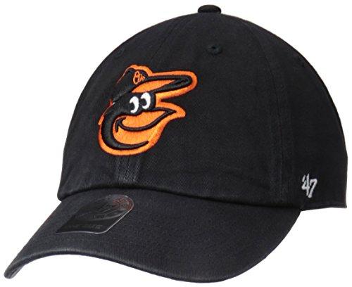 47 Unisex Clean Up Baseball Cap, Schwarz Black-Orioles, One Size -