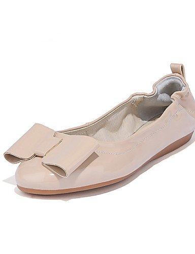 DFGBDFG PDX/Damen Schuhe Patent Leder flach Ferse Mokassin/Runde Zehen Wohnungen Office & Karriere/Party & Abend/Kleid/Casual rot/beige, fuchsia-us8/eu39/uk6/cn39 - Größe: One Size Fuchsia Patent Schuhe