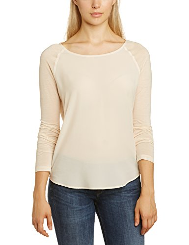 french-connection-womens-polly-plains-long-sleeve-blouse-beige-classic-cream-small