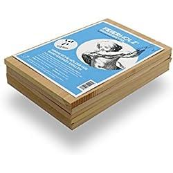 ISYbe Feierholz Räucherbretter Buche aus fränkischem Holz (für Den Grill, EIN Lagerfeuer Oder Zum Räuchern)