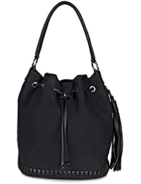 6ac62e88ca1cb Xuna Beuteltasche - Damentasche aus weichem PU Kunstleder (37 x 31 x 21 cm)