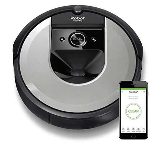 Foto iRobot Roomba i7156 Robot Aspirapolvere, Memorizza la planimetria della tua casa, Adatto per Peli di Animali Domestici, spazzole in gomma, potente aspirazione, Wi-Fi, programmabile con App, argento