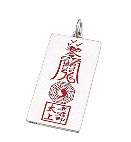 Epinki 925 Sterling Silber Herren Halskette Punk Rock Silber Yin Yang Amulett Anhänger Herrenkette