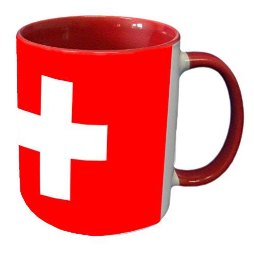 CBK - Taza de cerámica, diseño de la bandera de Suiza