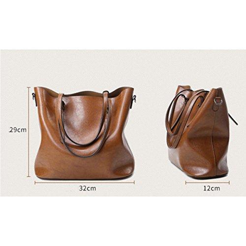 Borsa A Tracolla Tote Bag Da Donna Retro Elegante Borsa A Tracolla In Pelle PU Borsa Da Donna A Tracolla In Pelle Black