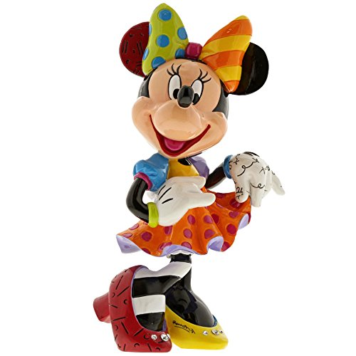 Enesco Disney Britto 6001011 - Figurina Minnie Mouse aniversario especial