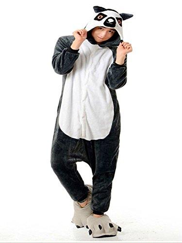 Imagen de abyed kigurumi pijamas unisexo adulto traje disfraz adulto animal pyjamas,mono de cola larga adulto talla l para altura 167 175cm alternativa