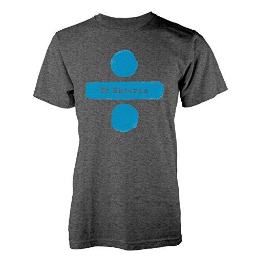 Ed Sheeran Mens Graphic Printed T-Shirt - (Divide Logo) Charcoal - Large