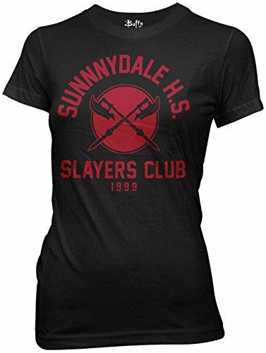 Buffy the Vampire Slayer Sunnydale HS Slayer del Club Maglietta da donna Black X-Large