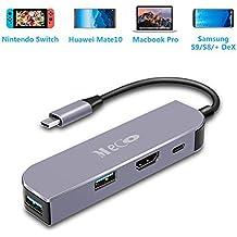 MECO USB C Adapter für Nintendo Switch (Upgrade Newest) mit 4K HDMI Port, USB C Port (Fast Charging 87W + Datenübertragung) und USB 3.0 Ports Unterstützung Dockingstation Extender, Samsung Galaxy Dex Station, MacBook Pro USB C Gerät