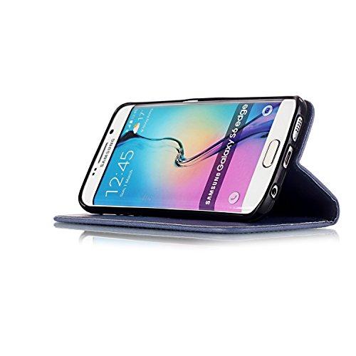 Meet de pour Apple iPhone 6 / iphone 6S Case, Gedruckte campanule Folio pour Apple iPhone 6 / iphone 6S PU Housse / Wallet / flip étui / Pouch / Case / Holster / Wallet / Case en cuir Wallet Style de  gris