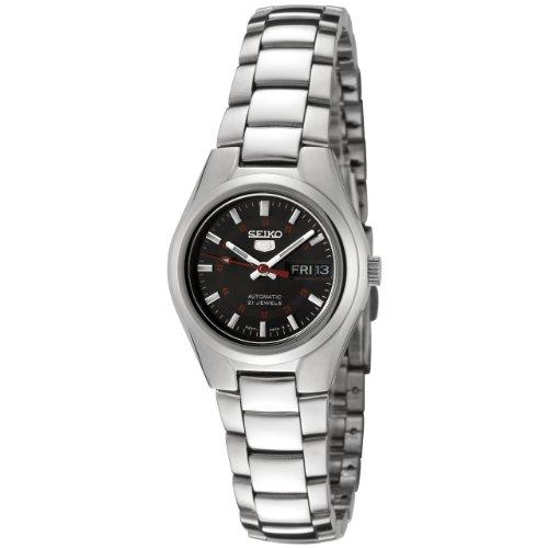 Seiko Damen Analog Automatik Uhr mit Edelstahl Armband SYMC27K1 - Uhr Seiko Damen 5 Automatik