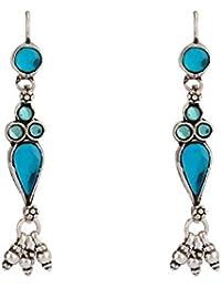 Ahilya Jewels .925 Sterling Silver Drop Earrings