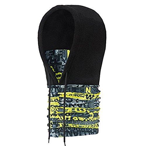 Vlies-haube Hat (Butterme Thermische Vlies Gesichtsmaske Halswärmer Ski Haube Snowboard Maske Windschutz Balaclava Hat (Schwarz))