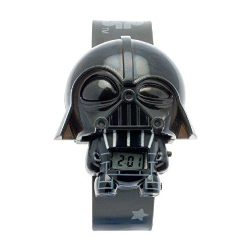 Reloj con luz infantil BulbBotz con figurita de Darth Vader de La guerra de las galaxias | negro/gris| plástico | digital | Pantalla LCD | chico chica | oficial