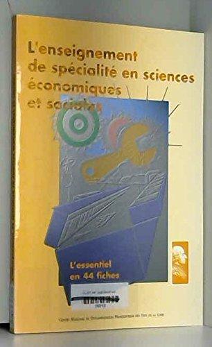 L'enseignement des specialites en terminale ref 440r0010