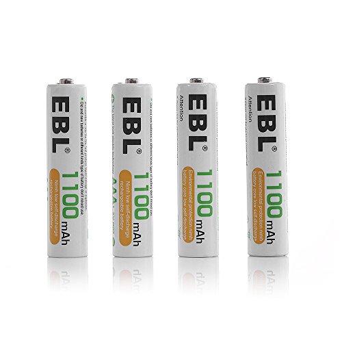 EBL 1100mAh AAA Ni-MH Baterías Recargables para los Equipos Domésticos - 4 piezas