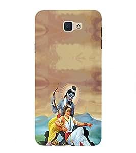 PrintVisa Lord Ram Sita Maa 3D Hard Polycarbonate Designer Back Case Cover for Samsung On7 (2016)