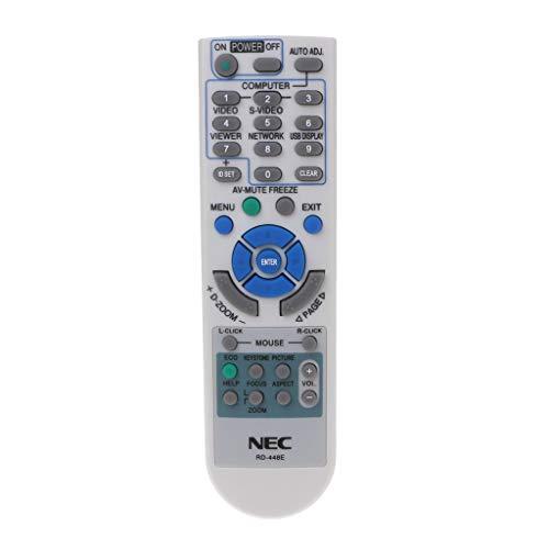 GROOMY Control remoto universal para proyector para NEC RD-448E RD-443E RD-452E RD-450D