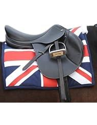 John Whitaker UJSP - Manta para silla de montar, diseño con la bandera británica