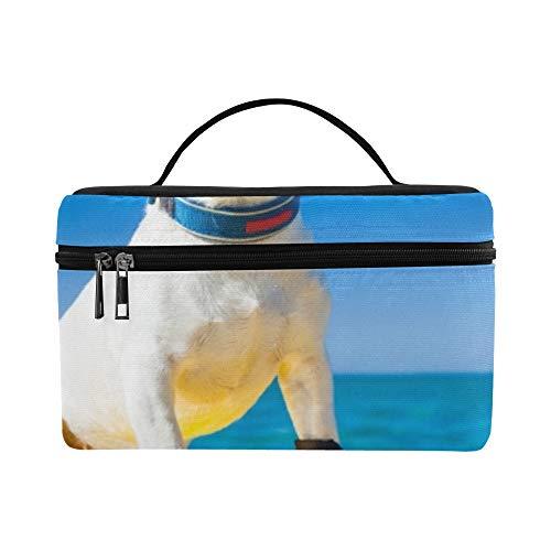 Hund Surfen auf Surfbrett tragen Sonnenbrillen Lunchbox Tote Bag Lunch Holder Isolierte Lunch Cooler Bag für Frauen/Männer/Picknick/Bootfahren/Strand/Angeln/Schule/Arbeit