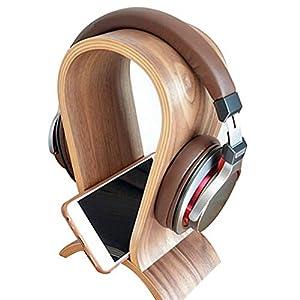 thorityau Kopfhörerhalter Schreibtisch,Holz Kopfmontierte Innovative Computer Hängen Kopfhörer Halter Ausstellungsstand Bluetooth Headset Halter