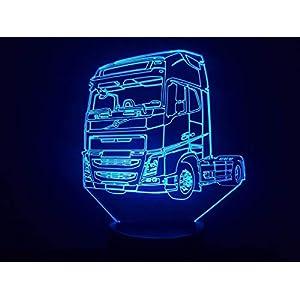Zeichnung kompatibel mit LKW VOLVO (2), 3D-Lampe LED