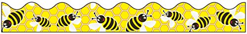 bordette-decorative-border-bees-2-1-4-x-25-roll-black-white-yellow-sold-as-1-roll