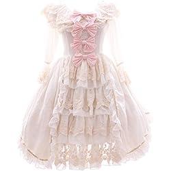 Kawaii-Story Vestido - Trapecio o Corte en A - para Mujer Weiß Medium