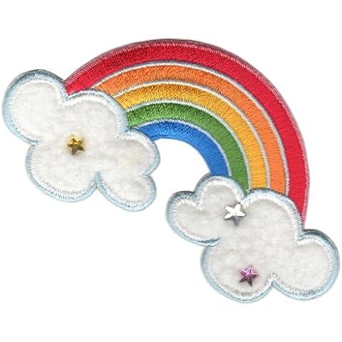 PatchMommy Parche Bordado Arco Iris Parche Termoadhesivo - Parches y Apliques Infantiles