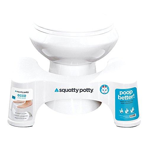 SQUATTY Potty das Original Badezimmer WC-Hocker, 17,8cm, Weiß