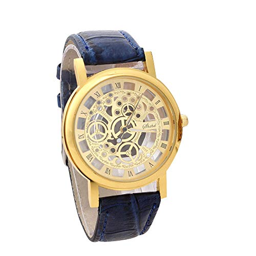 Herren Armbanduhr FGHYH Vintage wasserdicht Datum Lederarmband Sport Quarz Watch Uhr(A-12)