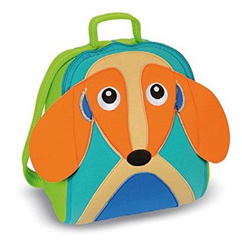 Oops 30002.22 Stabiler, undurchdringlicher und vollständig wasserdichter Neopren-Rucksack mit niedlichem 4D-Tiermuster - Hund (Mind Hund Spielzeug)