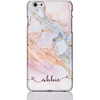 reputable site 646c8 5b86b PERSONALISED MARBLE INITIALS HARD PHONE CASE COVER FOR APPLE IPHONE ...