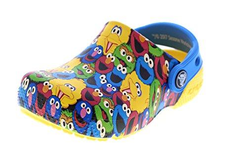 crocs Kids Fun Lab Sesame Street Slip on Croslite Clog Yellow Size 8