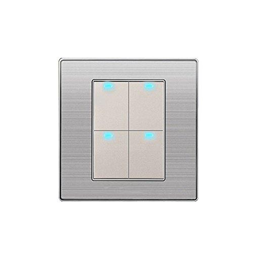 alftek VOGEL-GERMANY cepillado LED de indicadores de luz de interruptor de pared...