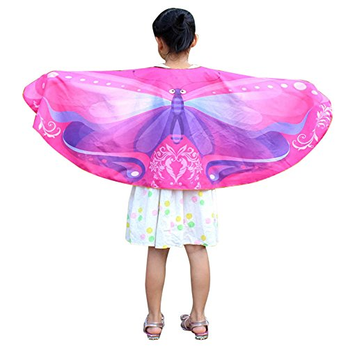 Schmetterlings Flügel Schals Mädchen Kostüm Faschingskostüme Schmetterling Schal Kinder Kostüm Schmetterlingsflügel Pixie Halloween Weihnachten Cosplay Schmetterlingsf Butterfly Wings ()