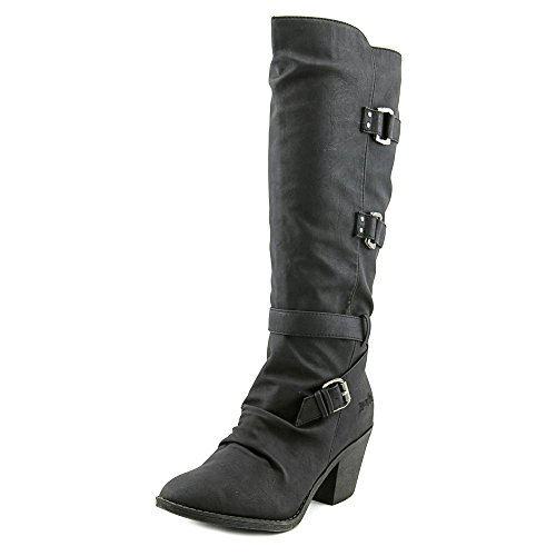 Blowfish Stay Rund Kunstleder Mode-Knie hoch Stiefel Black
