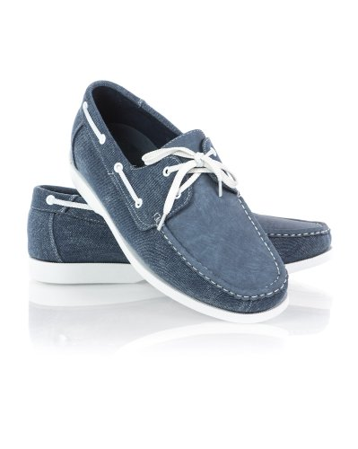 BLZ Jeans - Chaussures En Cuir Et Toile Denim Homme