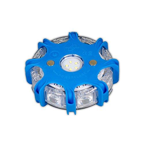 Powerflare Plus blau LED Warnleuchte Pannenleuchte Warnblitzer Rundumleuchte für Auto KFZ Pannenhilfe