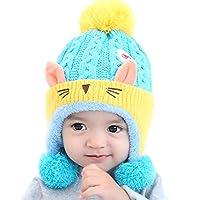 IvyH Baby Hat,Kids Winter Warm Hat Baby Knitted Pompom Hat Girls Hat Cap