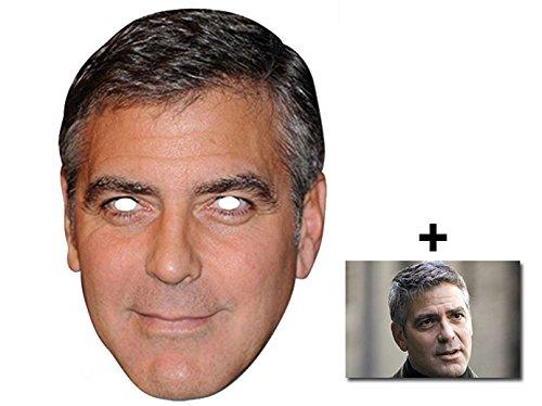 George Clooney berühmtheit Single Karte Partei Gesichtsmasken (Maske) Enthält 6X4 (15X10Cm) starfoto