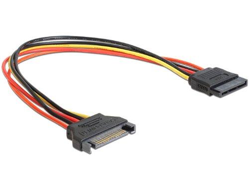DeLock Kabel Power SATA 15 Pin Stecker > SATA 15 Pin Buchse Verlängerung 30 cm -