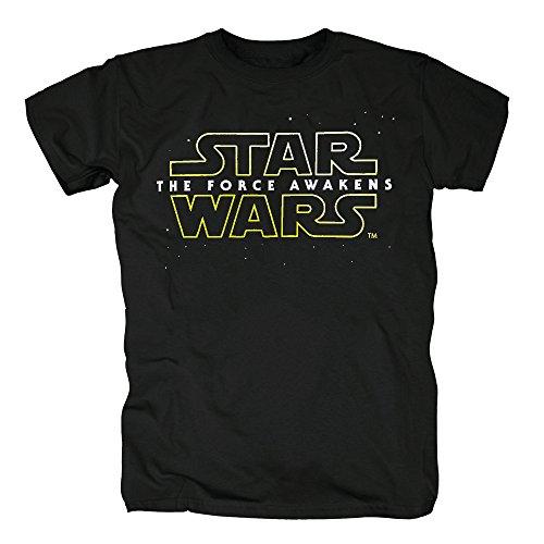 Force Awakens Logo T-Shirt Herren S Schwarz ()