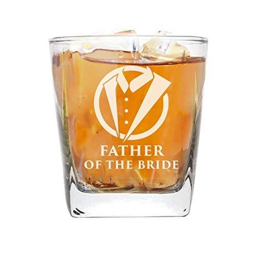 Whiskey Rocks Brille für Bachelor Party, Hochzeiten, Hochzeit, Gastgeschenken Whisky Geschenke Tuxedo Style 9oz Father of the Bride Glass (Die Tuxedo Hochzeit Für)