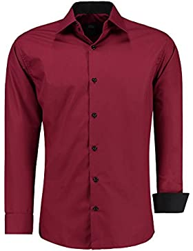 Jeel camicia da uomo / Business tuta Tempo Libero a maniche lunghe / Facile Ferro, Slim Fit / S - 6XL