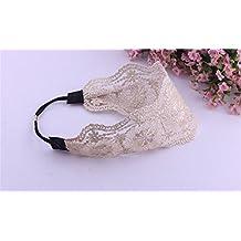 Accesorios para el Pelo Oyedens Encaje De Banda Para El Cabello Diadema Ancha Retra Turbantes Mujer Hair Accessories 52cm ~ 66cm