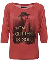 Freshmade Not All Glitters Is Gold Damen Top Pink